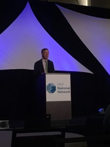 Colorado's Governor, John Hickenlooper, speaks at the Summit.